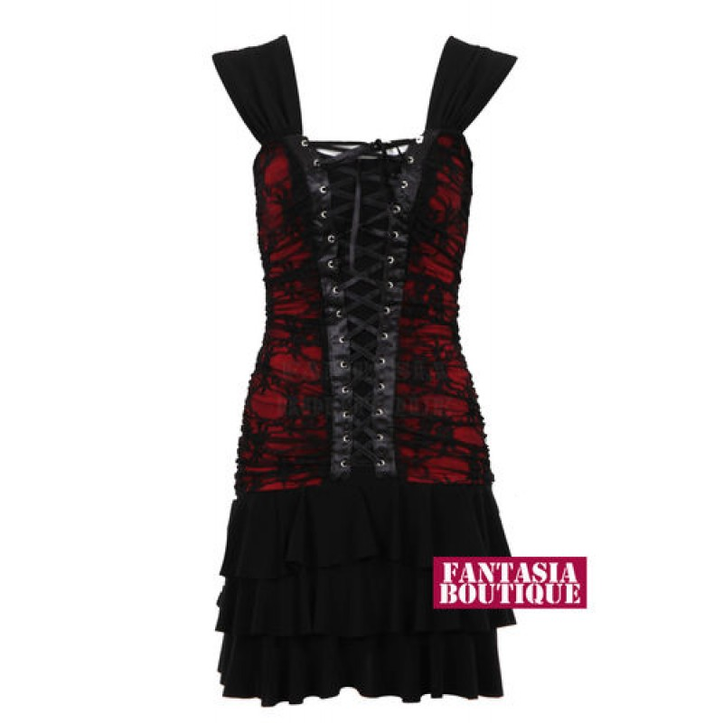 Ladies Gold Studded Sequin Mesh Womans Party Skater Dress - Wine - Dresses  - CLOTHING  68f637249
