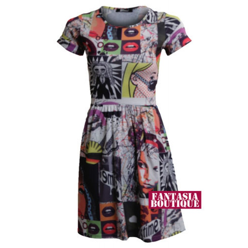 Funky Tops For Ladies Ladies Funky Print Cap Sleeve